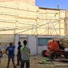 Así era la pared antes de colocar el jardín