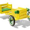 banco infantil forma coche amarillo