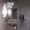 Baño con estuco y azulejo decorativo 3D