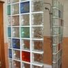 Baño de bloques de cristal