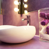 baño lila