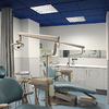 Poner lamparas, videoporteros y downlights en clínica