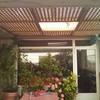 Celosias en techo de pérgola