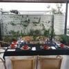 Cena en terraza