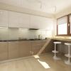 Cocina de diseño con materiales convencionales