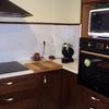 cocina de roble oscuro