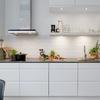 cocina en línea muebles blancos