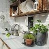 cocina exterior cajas recicladas