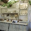 cocina exterior vintage blanco