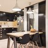 Cocina y relación visual con el hall de entrada
