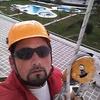 colgado de edificio de 50 metros