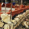 Construcción del muro romano