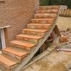Construcción escalera jardín