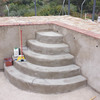 Construcción escalera Piscina Rustica