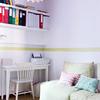 Cuarto infantil con zona de estudio y almacenaje extra