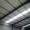 Cubierta y panel traslúcido