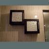 Cubos wengue con cristales metal mate