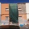 Demolición del enfoscado de la planta primera.