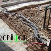 Detalle cimentación de terraza y canalizaciones de electricidad