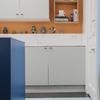 Detalle de la cocina con el suelo