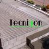 Detalle de terraza en ejecución