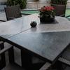 Detalle mesa de acero