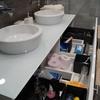 Doble lavabo sobreencimera