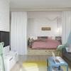 dormitorio integrado en el salón