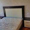 Dormitorio wengé y crema