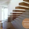 Escalera de madera maciza