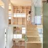 escalera mueble de madera