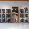 Exposición complementos. Diseño columnas exposición.