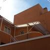 Fachada posterior de edificio rehabilitado