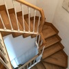 Forrado de escalera con laminado en Roble