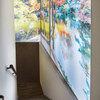Fotografía retroiluminada gigante para la escalera