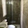 Frontal de ducha en cromo y cristal templado