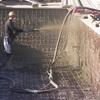 Gunitado de piscina proyectado a 7 atmósferas de presión.