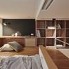 Habitación altura madera