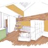 Imagen de proyecto del espacio principal de la vivienda