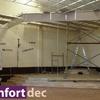 Inicio de las obras durante el montaje del falso techo