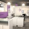 Interior 3d de la peluquería