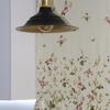 Lámpara auxiliar y cortina