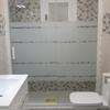 Mampara de ducha de alta calidad, de aluminio color plata