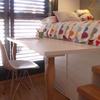 Mesa, cama y almacenaje