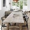 mesa de comedor con patas de madera