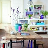 mesa de comedor con taburetes