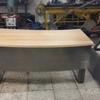 Mesa de tubo y madera