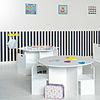 mesas infantiles blanco