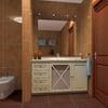 Reforma baño mueble bajo lavabo espejo y apliques
