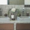 Mueble baño con lavabos superpuestos